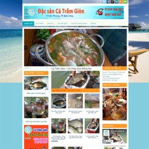 Website Bán Cá Trắm Giòn WBT105