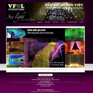 Website Giới Thiệu đèn Sợi Quang WBT97