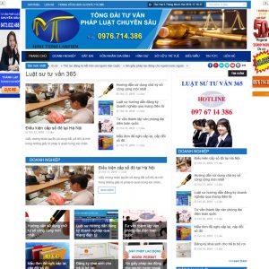 Website Tin Tức Giới Thiệu Công Ty Luật WBT98