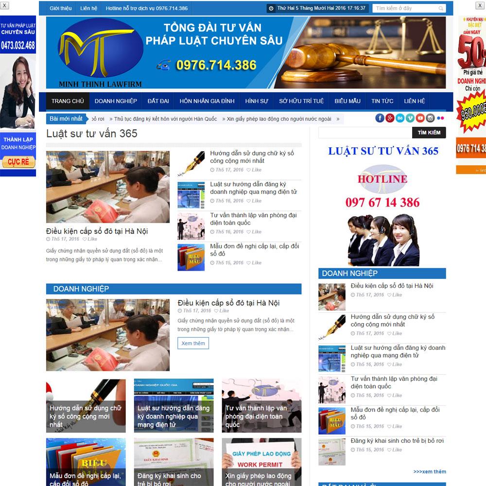 Website Tin Tức Giới Thiệu Công Ty WBT98