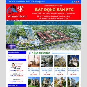 Website Bất động Sản Nhà đất STC WBT106