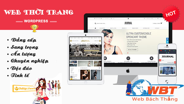 Thiết kế website thời trang giá rẻ