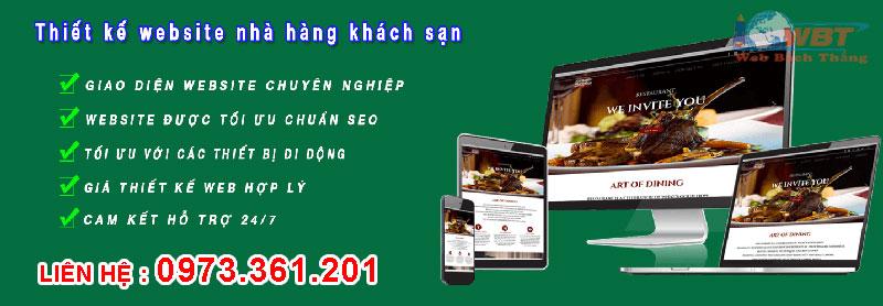 Thiết kế website nhà hàng quán ăn