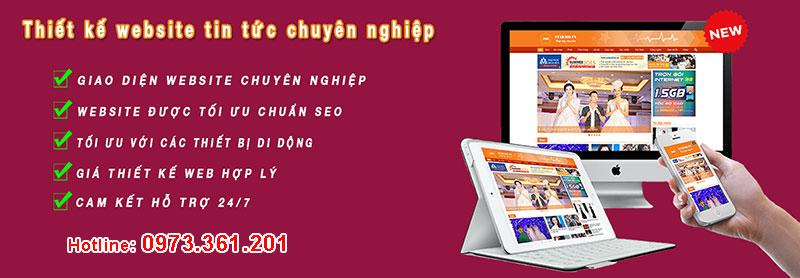 Thiết kế website tin tức tạp chí