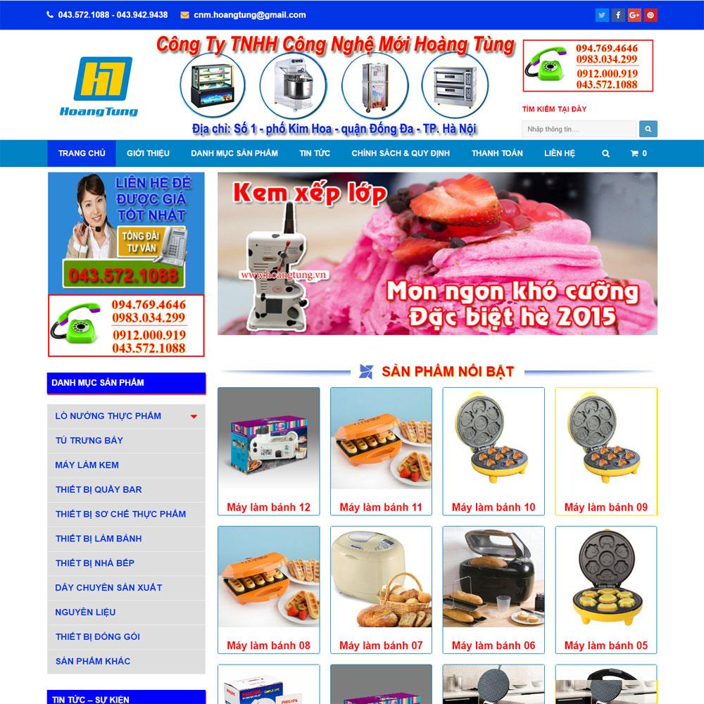 Website Giới Thiệu Bán Thiết Bị điện Hoàng Tùng WBT108