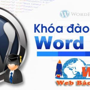 Khóa Học Thiết Kế Website Online Bằng Wordpress