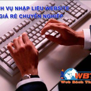 Dịch Vụ Nhập Liệu Website Giá Rẻ