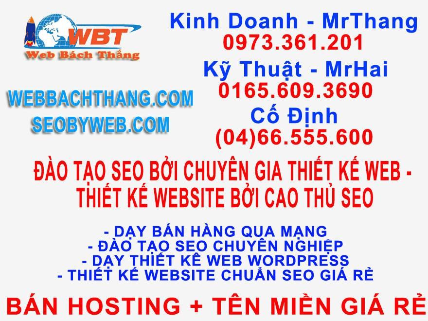 Sản phẩm dịch vụ Web Bách Thắng