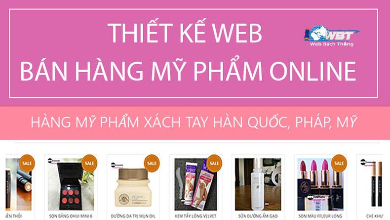 Thiết kế website shop bán mỹ phẩm chuyên nghiệp