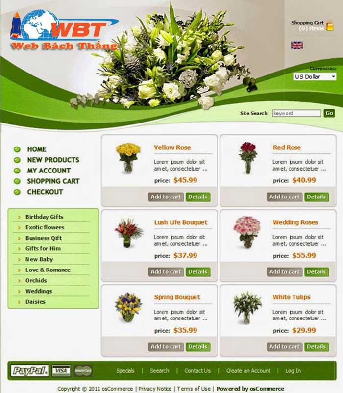 thiết kế website bán hoa giá rẻ chuẩn seo