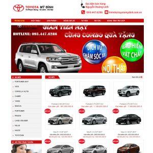 Website Bán ô Tô Toyota Mỹ đình 365 WBT120