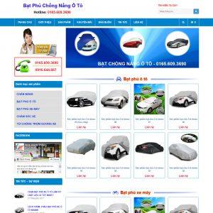 Website Bán Bạt Phủ Chống Nắng ô Tô 365 WBT121