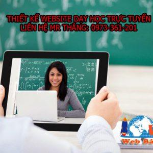Thiết Kế Website Dạy Học Giá Rẻ
