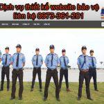 Dịch Vụ Thiết Kế Website Bảo Vệ Chuyên Nghiệp Và Uy Tín