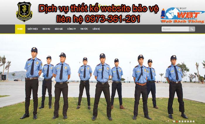 dịch vụ thiết kế website bảo vệ