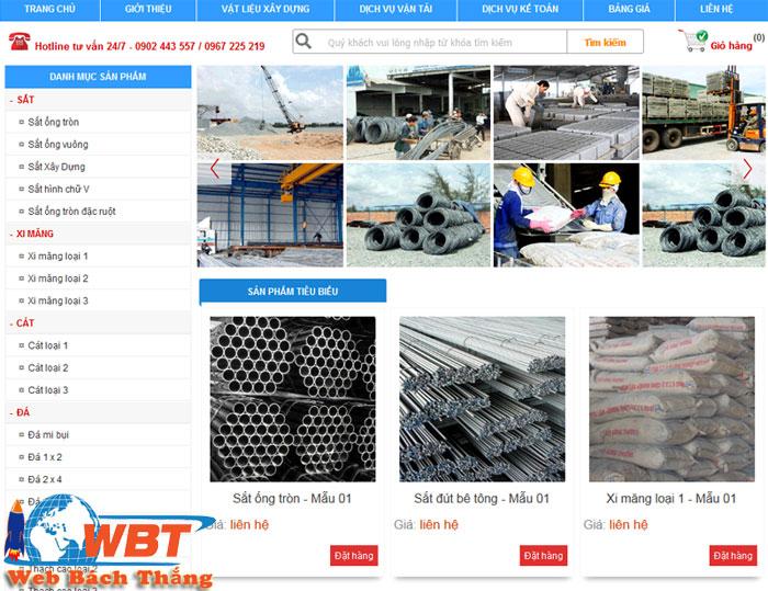 mẫu mã trang website