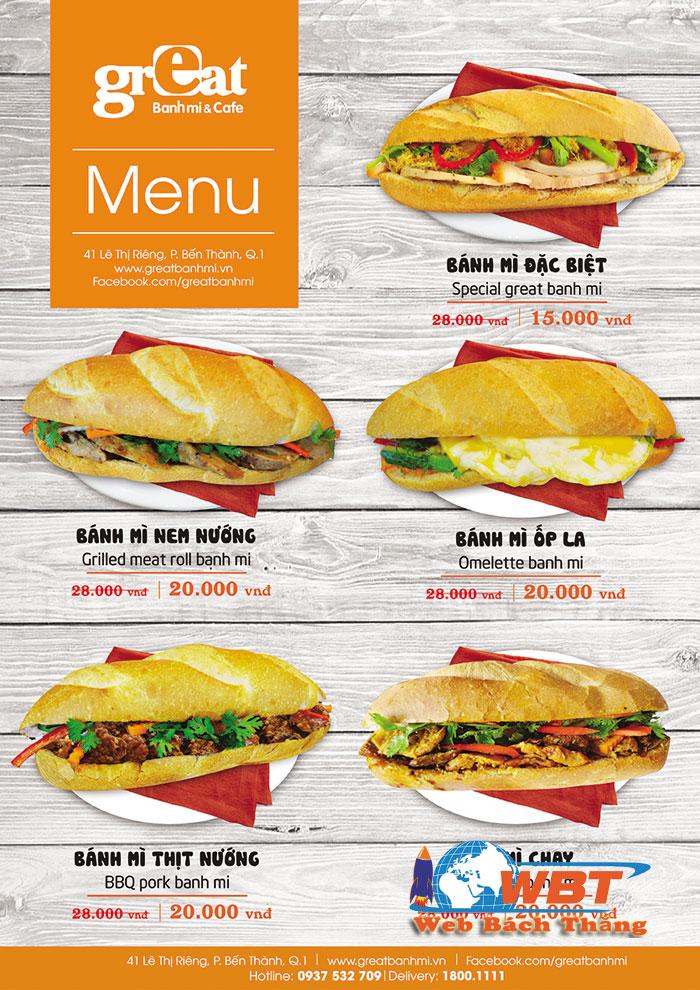 thiết kế website bán bánh mì