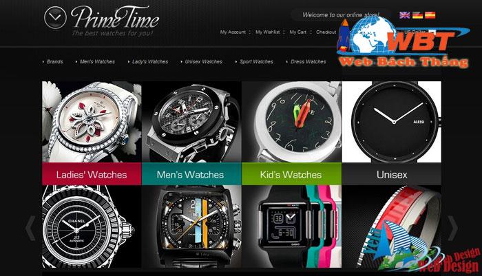 thiết kế website bán đồng hồ giá rẻ thẩm mỹ chuẩn seo