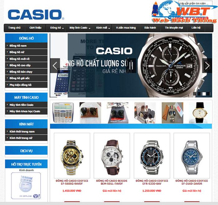 dịch vụ thiết kế website bán đồng hồ chuyên nghiệp đẳng cấp
