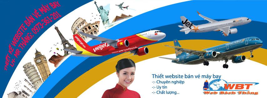 thiết kế website bán vé máy bay