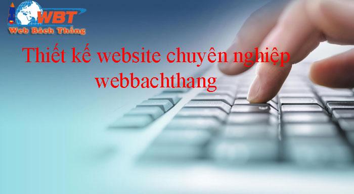 thiết kế website tại webbachthang