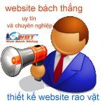 Thiết kế website rao vặt đẹp, chuyên nghiệp và bắt mắt