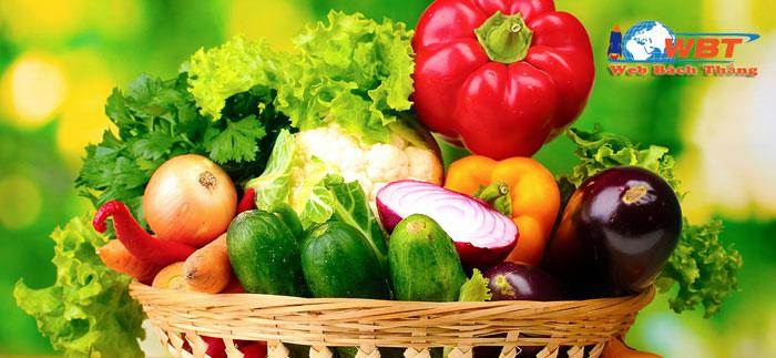 thiết kế website bán thực phẩm sạch nông sản