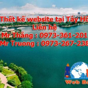 Thiết Kế Website Tại Tây Hồ Giá Rẻ Chuyên Nghiệp