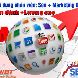 Tuyển Dụng Gấp Nhân Viên Seo Marketing