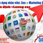 Tuyển dụng gấp nhân viên Seo quản trị website tháng 03