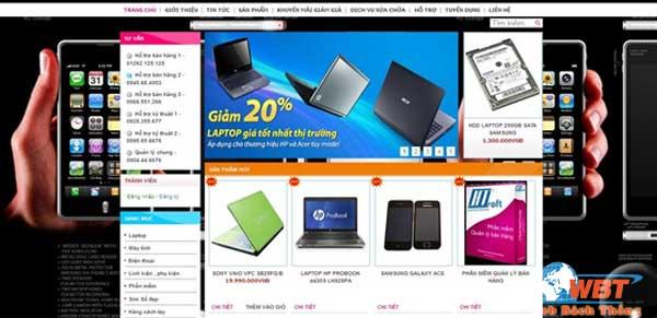 thiết kế website bán điện thoại giá rẻ chuẩn seo
