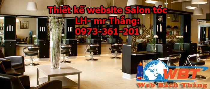 Thiết kế website salon tóc chuẩn seo giá rẻ
