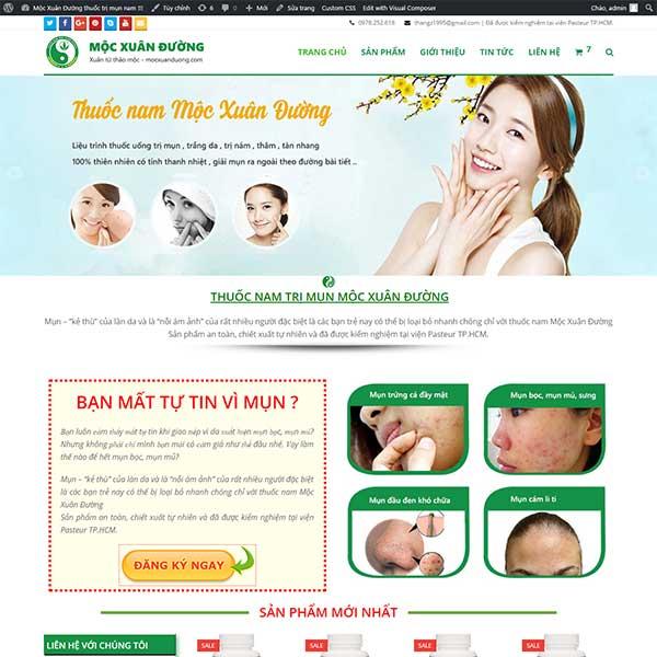 Mẫu Website Bán Thuốc Trị Mụn đông Tây Y WBT135