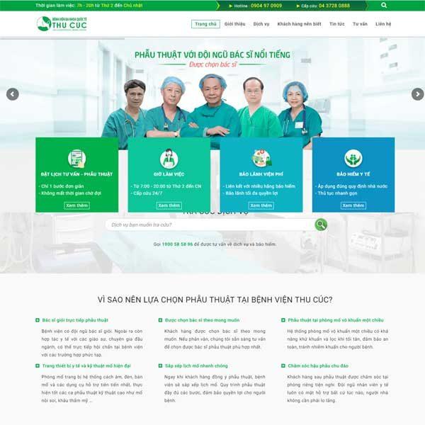 Mẫu Website Phòng Khám Bệnh Viện WBT129