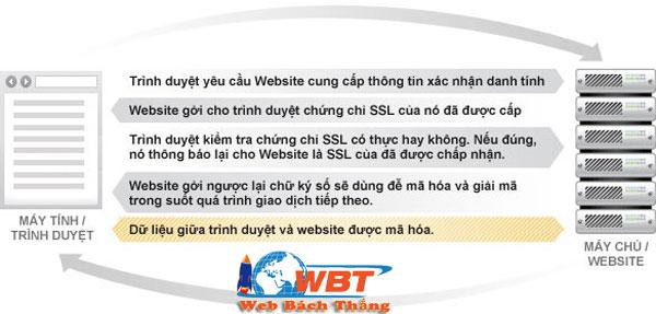 SSL tương tác với trình duyệt và máy chủ
