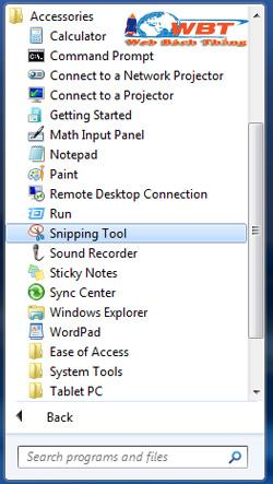 chụp ảnh màn hình máy tính bằng Snipping Tool