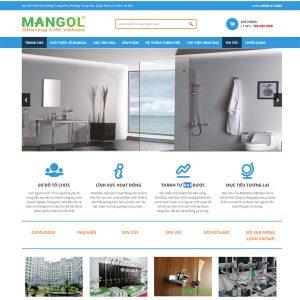 Mẫu Website Công Ty Phân Phối Thiết Bị Vệ Sinh WBT125