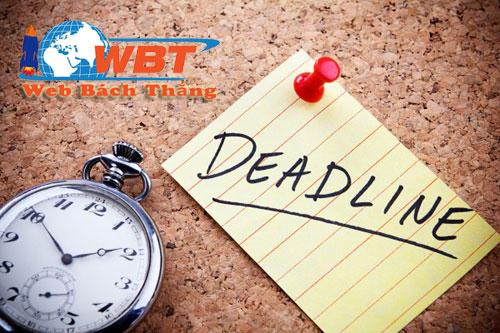 deadline là gì