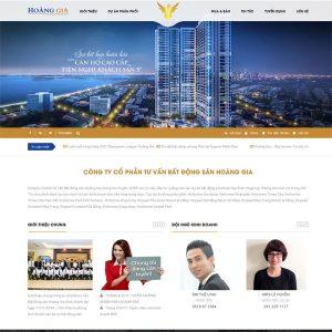 Mẫu Website Bất động Sản Thương Hiệu WBT133