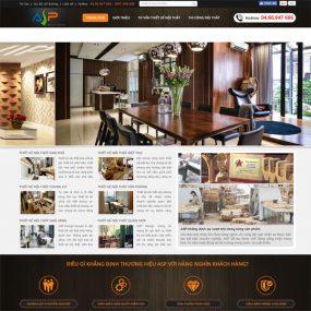 Mẫu Website Thiết Kế Trang Trí Nội Thất WBT134