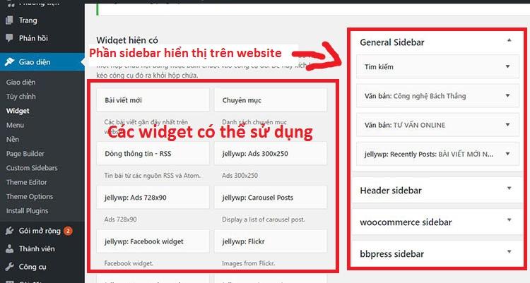 Sử dụng widget 2