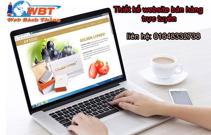 thiết kế website bán hàng trực tuyến
