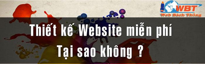 Thiết kế website miễn phí tại sao không