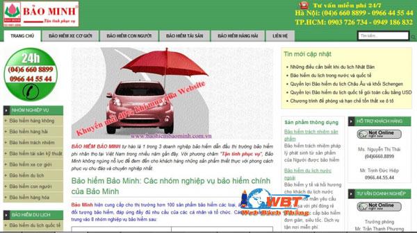 website bảo hiểm