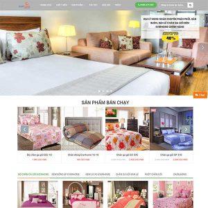 Mẫu Website Chăn Ga Gối đệm WBT1009