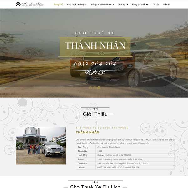 Mẫu Website Dịch Vụ Cho Thuê Xe ô Tô WBT1002
