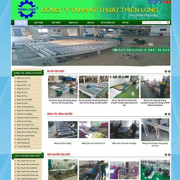 Mẫu Website Cơ Khí Dây Chuyền Sản Xuất WBT1005