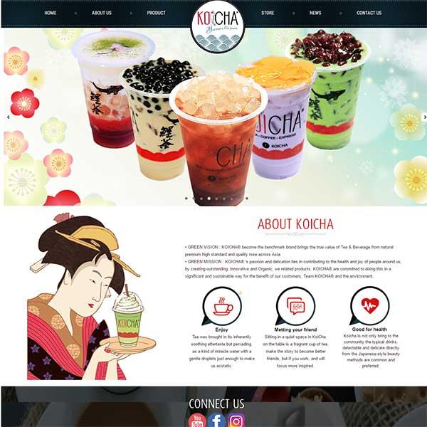 Mẫu Website Bán đồ Uống Các Loại WBT1004