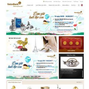 Mẫu Website Vàng Bạc đá Quý Cao Cấp WBT1012