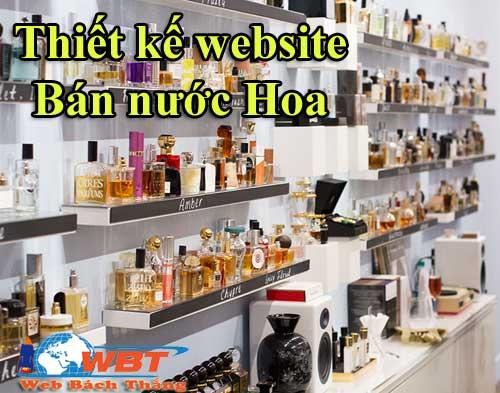 thiết kế website bán nước hoa